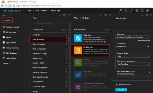 Free Microsoft Azure Mobile Apps