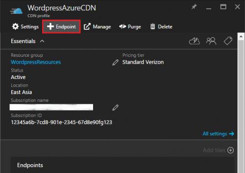 Azure CDN - Endpoint