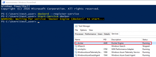 Windows Server Containers - Start-Service docker